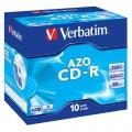 CD-R Verbatim 700MB/52x AZO Crystal v krabičce