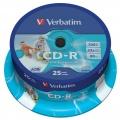 CD-R Verbatim 700MB/52x 25-pack Printable