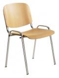 Konferenční židle 1120 L BUK chrom