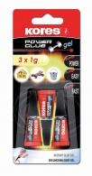 Vteřinové lepidlo Kores Glue gel 3x1ml