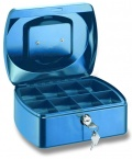 Pokladnička Conmetron 205x160x85mm modrá