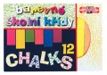 Křídy hranaté 12x12mm barevné 12ks
