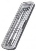 Sada ADRIANA kuličková tužka a mikrotužka 0,5mm stříbrná