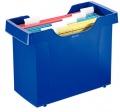Stolní zásobník PLUS na závěsné desky modrý