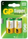 Alkalické baterie GP Super C 2ks