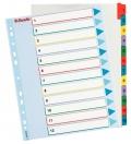 Kartonový rozlišovač Mylar A4 bílý 12 listů