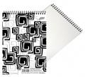 Blok BOBO Black and White A6 50 listů linkovaný