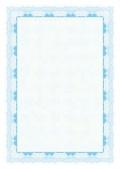 Certifikační papír 95g modrý