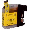 Kompatibilní inkoust Brother LC123Y žlutý