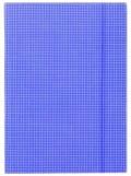 Deska Donau káro s gumou A4 kartonová modrá