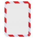 Kapsa samolepicí bezpečnostní signální A4 červeno-bílá