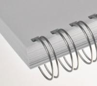 Kovový hřbet 11mm stříbrný 100ks
