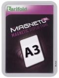 Kapsa s rámečkem TARIFOLD Magneto Solo A3 stříbrná