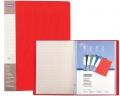 Katalogová kniha Donau PP A4 20 kapes červená
