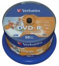 DVD-R Verbatim 4,7GB/16x 50-pack Printable