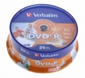 DVD-R Verbatim 4,7GB/16x 25-pack Printable