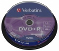 DVD+R Verbatim 4,7GB/16x 10-pack