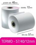 Pokladní kotouček TERMO 57/40/12mm