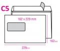 Obálka ELCO C5 samolepicí okénko vlevo 500ks