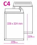 Poštovní taška C4 s krycí páskou