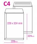 Poštovní taška C4 samolepicí 25ks