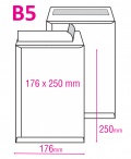 Poštovní taška B5 s krycí páskou