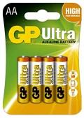 Alkalické baterie GP Ultra AA 4ks