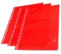 """Prospektový obal ,,U"""" barevný A4 červené okraje transparentní"""