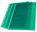 """Prospektový obal ,,U"""" barevný A4 zelené okraje transparentní"""