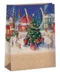Dárková taška vánoční T8 natur