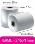 Pokladní kotouček TERMO 57/50/17mm