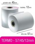 Pokladní kotouček TERMO 57/45/12mm