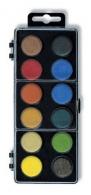Vodové barvy 22,5mm sada 12 barev