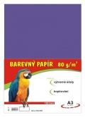 Barevné papíry A3 80g 100ls fialové