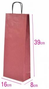 Dárková papírová taška na víno bordó