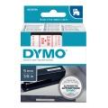 DYMO páska D1 40915 9mm x 7m červeno/bílá