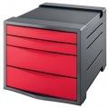 Zásuvkový box Esselte Vivida červený
