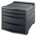 Zásuvkový box Esselte Vivida černý