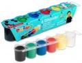 Prstové barvy Primo 25ml 6 barev