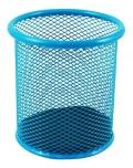 Stojánek kovový drátěný světle modrý