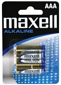 Baterie MAXELL alkalická AAA 4ks