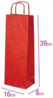 Dárková papírová taška na víno červená