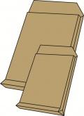 Poštovní taška B4 s křížovým dnem a krycí páskou hnědá