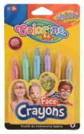 Barvy na obličej Colorino 6 metalických barev