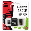 Paměťová karta Kingston SDHC 16GB s adaptérem