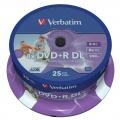 DVD+R Verbatim 8,5GB/8x 25-pack Printable