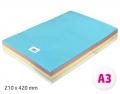Barevné papíry A3 80g 500ls 10 barev