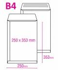 Poštovní taška B4 samolepicí 25ks