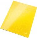Desky s rychlovazačem Leitz WOW žluté