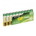 Alkalické baterie GP Super AAA 10ks